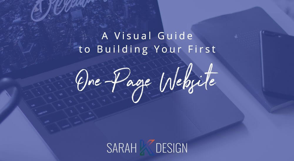 visual guide to your one page website